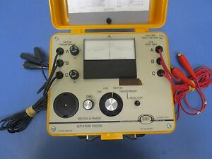 Biddle 560400 Motor Phase Rotation Tester 600v 25 60 400hz
