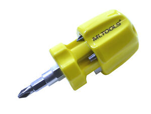Mltools Stubby Multi bit Screwdriver Set Made In Canada