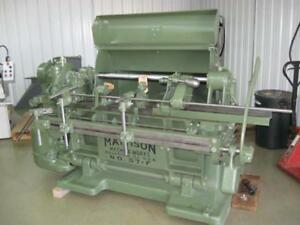 Mattison Model 57f 42 Automatic Shaping Lathe woodworking Machinery