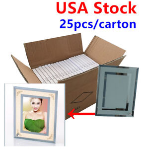 Usa Stock 25pcs lot 8 Sublimation Blank Glass Photo Frame Double Mirror Border
