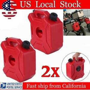 2x Gas Storage 1 3 Gallon Containers Fuel Pack Can W Mounting Kits Atv Utv Ouy