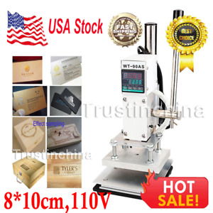 8 10cm Manual Digital Hot Foil Stamping Machine Pvc Card Leather Bronzing 110v