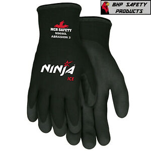 Mcr Memphis Ninja Ice Insulated Cold Winter Weather Safety Work Gloves 1 pair