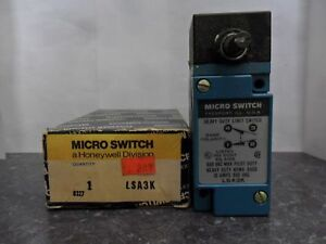 New Honeywell Lsa3k Micro Limit Switch 10 Amp 600vac Nib