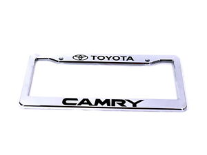 Chrome License Plate Frame With Camry
