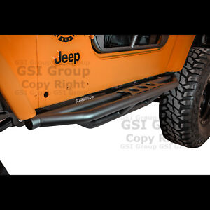 New Rock Crawler Side Armor Rocker Slider Guard Step For 97 06 Jeep Wrangler Tj