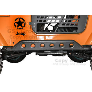 New Hd Rock Crawler Side Armor Rocker Slider Guard For 97 06 Jeep Wrangler Tj