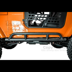 1 Pair Rock Crawler Hd Side Armor Rocker Slider Guard For 97 06 Jeep Wrangler Tj