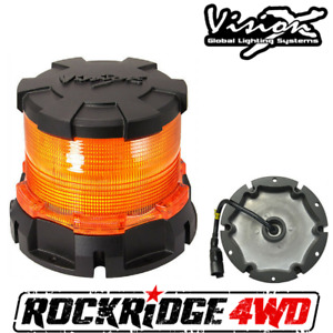 Vision X Heavy Duty Led Beacon Amber Snow Plow Construction Equipment Mining