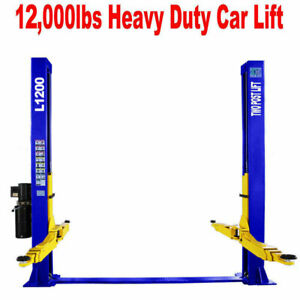 Two Post L1200 Car Auto Lift 12 000 Lb Capacity Truck Hoist Free Shipping