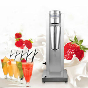 110v Food grade Stainless Steel Single Head Milkshake Machine Milk Tea Blender