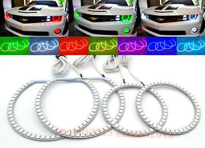Rgb Halo Rings For Camaro Headlights Led Daytime Running Fog Lights Angel Eyes