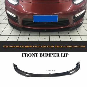 Carbon Fiber Front Bumper Lip Bodykit Fit For Porsche Panamera Gts Turbo S 14 16