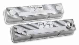 Holley 241 86 M T Valve Covers For Small Block Chevy Engines Natural Cast F