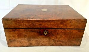 Parkins Gotto Burr Walnut Mid Victorian Sewing Box