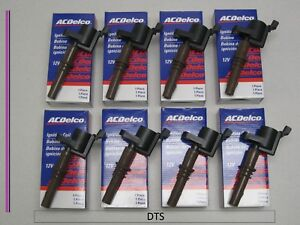 New A C Delco Set Of Eight Ignition Coils 19334346 Dg521 For Ford Applications