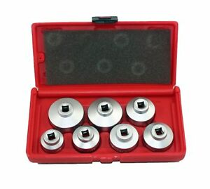 7 Pc Oil Filter Cartridge Socket Set Metric 24 27 29 30 32 36 38mm