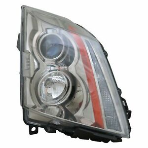 Capa Certified Headlight For 2008 2014 Cadillac Cts Right Hand Halogen W bulbs