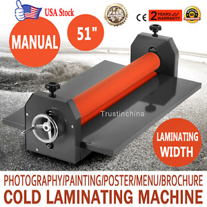 51in Cold Laminator Manual Roll Laminator Vinyl Film Laminating Machine Us Fast