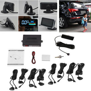 12v Auto Car Lcd Display Monitor 8x Parking Sensors Radar Buzzer Alarm System