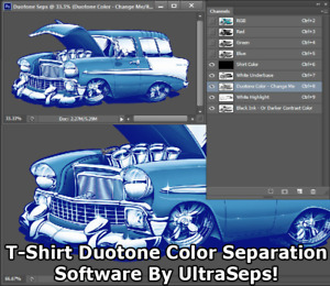 Duotone T shirt Screen Printing Color Separation Software By Ultraseps