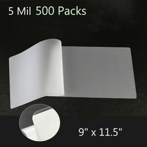 500 Pack 5 Mil 9 x11 5 Thermal Laminating Pouches Letter Size Laminator Sheets