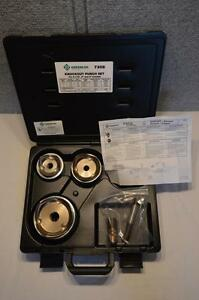 New Greenlee 7308 Knockout Punch Set For 2 1 2 3 4 Conduit