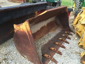 Wheel Loader Bucket With Cutting Tooth Edge 8 Wide 36 Deep And 43 Tall