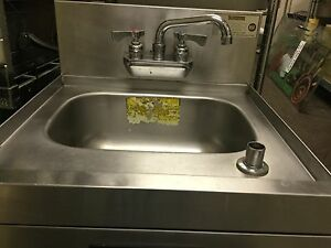 Commercial Hand Sink With Faucet Fixture Soap Dispenser