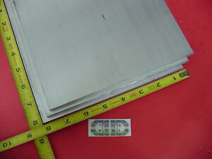 3 Pieces 3 8 X 8 X 8 Aluminum 6061 Flat Bar Solid T6511 New Mill Stock Plate