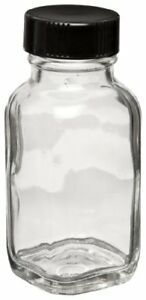 Wheaton W216891 French Square Bottle Clear Glass Capacity 2oz With 28 400 Bla