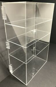 Acrylic Counter Top Display Case 12 x 9 5 X19 locking Cabinet Showcase Boxes
