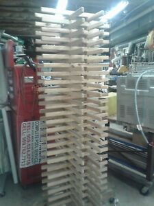 Screen Printing Wooden Frame 18 X 24 Sign Drying Rack 28 lx28 wx 81 h Holds 96