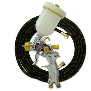 Paasche Hvlp Spray Gun With 1mm Head 10 Braided Air Hose