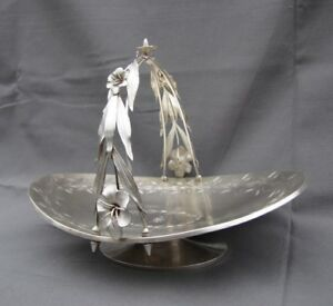 Antique American Aesthetic Sterling Silver Basket George Sharp Philadelphia