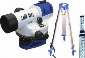 Linesite Al28 Builder s Level Kit W Tripod And Measuring Stick Brand New