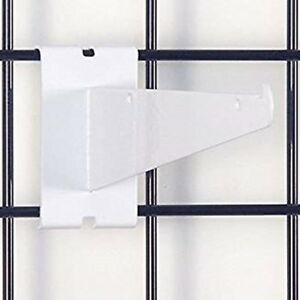 Only Hangers 12 Gridwall Knife Shelf Brackets With Lip White 8 Pcs