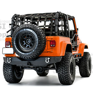 Full Size Rock Crawler Rear Bumper 2 Receiver Hitch For 97 06 Jeep Wrangler Tj