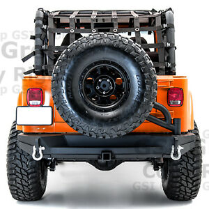 Rock Crawler Rear Bumper tire Carrier Tailgate hitch For 97 06 Jeep Wrangler Tj