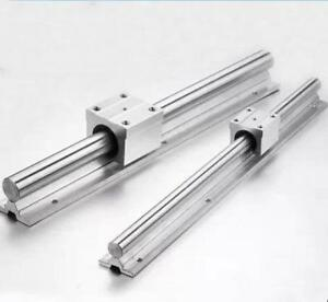2x Sbr10 350mm 10mm Fully Supported Linear Rail Shaft Rod