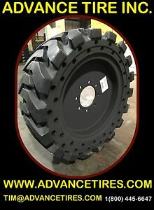 Solid Skid Steer Tires 33x12 20 Ta With Rims Replaces 12 16 5 Skid Steer Tires