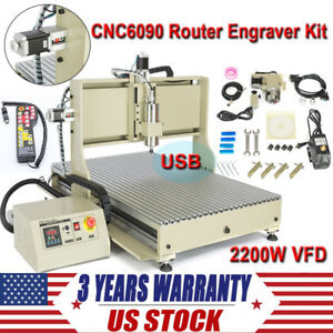 4 Axis Cnc Router Engraver Engraving Machine Kit Mach3 Handwheel Controller Us