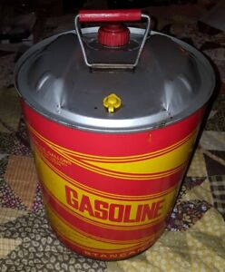 Vintage 5 Gallon Gas Can Metal Stancan Gas Can