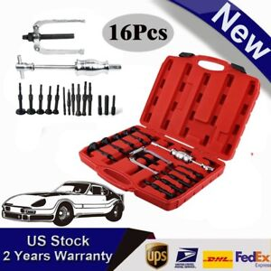 16pcs Bush Bearing Puller Blind Hole Pilot Internal Extractor Remover Tools Ouy