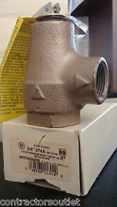 New Factory Overstock Watts 374a Pressure Relief Valve 3 4 30 Psi 0358553