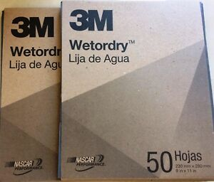 3m 400 Grit Wet Or Dry Sandpaper 2 Box X 50 Sheets 100 Sheets Free Shipping