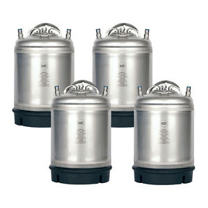 4 Pk New 2 5 Gallon Ball Lock Kegs Homebrew Beer Cold Brew Free Shipping