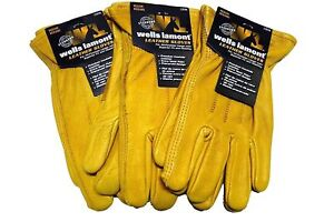 Wells Lamont Premium Cowhide Leather Work Gloves M L Xl 1 2 3 Or 6 Pair