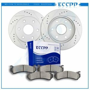 For Escalade Silverado Sierra Yukon Front Drilled Slotted Brake Discs And Rotors