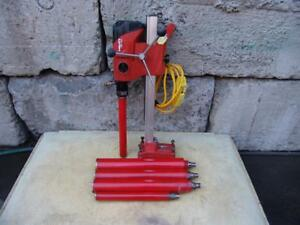 Hilti Dd 120 Core Drill With Stand And Bits Works Well